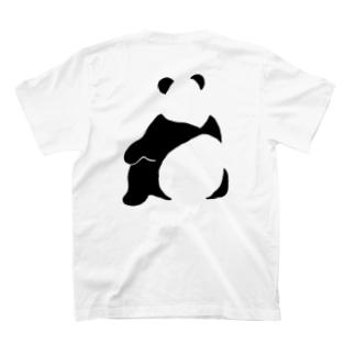 パンダ(せなか)バックプリントTシャツ T-shirts