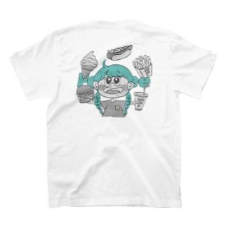 burger TシャツWhite T-shirts