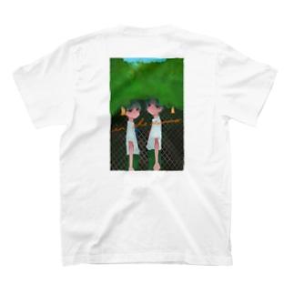 【バックプリント】ぼかし 夏の日のいちにし 大きめ T-shirts