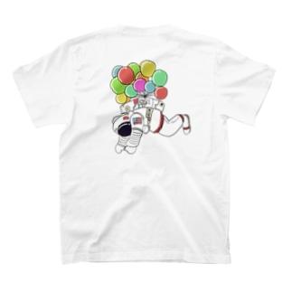 宇宙遊泳 バックプリント T-shirts