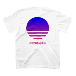 【寄付】背面nemasyou suns【ブルー】 T-shirts