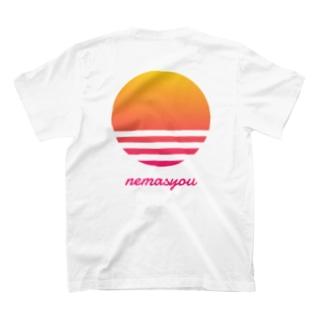 【寄付】背面nemasyou suns【イエロー】 T-shirts