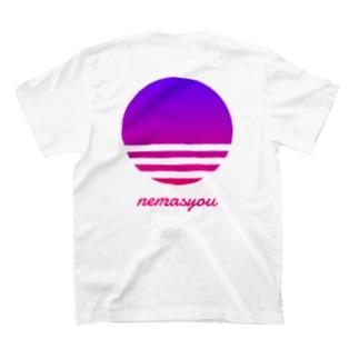 【寄付】背面nemasyou suns【パープル】 T-shirts