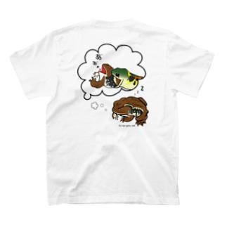 ヒキガエルの悪夢バックプリントTシャツ T-shirts