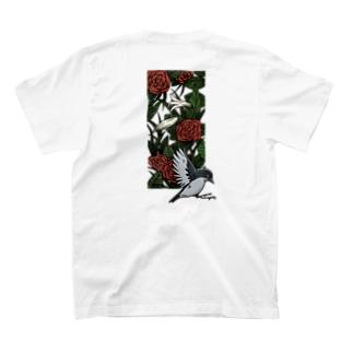 トラと花とトリ T-shirts