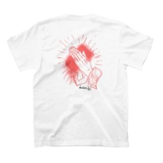 手洗いTシャツ オレンジ T-shirts