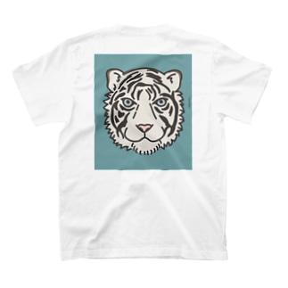 ホワイトタイガー 背面 T-shirts