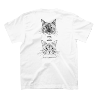 2CATS(UME&MUGI)縦+NEKOrtment四角ロゴ T-shirts