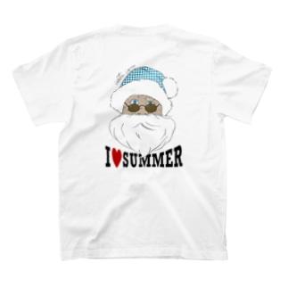 サマーサンタ バックプリント T-shirts