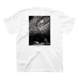 Crocodylus porosus (背面プリントver) T-shirts