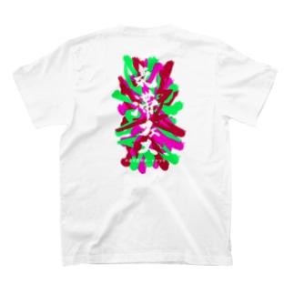お手紙サポートセンターの中医学用語Tシャツ~気滞フェス~ T-shirtsの裏面
