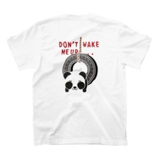 バックプリント*CT162 おこさないでねC*ズレぱんだちゃんのDON'T WAKE ME UP...*白フチなし T-shirts