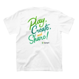 Springin' 「Play, Create, and Share!」 T-Shirt
