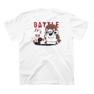 バックプリント*CT166 スズメがちゅん*BATTLEちゅん T-shirts