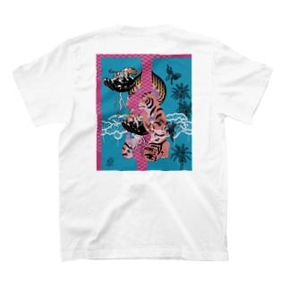 (バックプリント)多次元宇宙タイガー T-Shirt