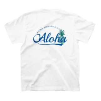 バックプリントaloha pineapple (blue) 065 T-shirts