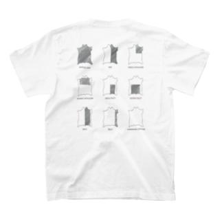 KL-storeのバックプリントT #01 革の部位 T-Shirtの裏面