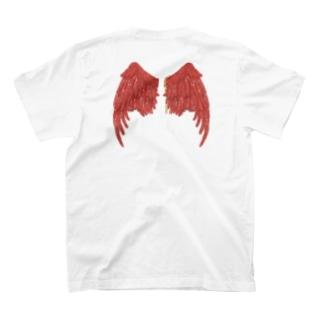 赫い羽根 T-shirts