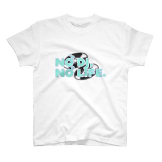 アニクラデザイン「No DJ,No Life.」 T-shirts