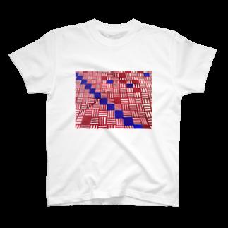 pinonblueのON OFF T-shirts