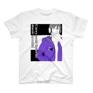 ヘッドフォン系男子 T-shirts
