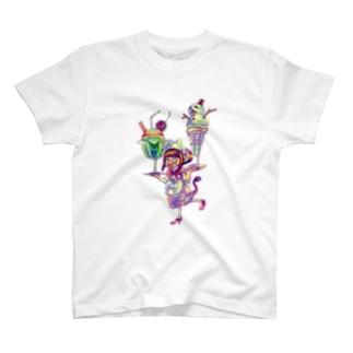 クリーチャーウェイトレス T-shirts
