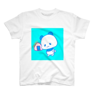 おにぎりパンダブルー T-shirts