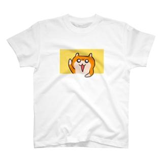 ヤホ!ってしてるクソハムちゃん(黄) T-shirts