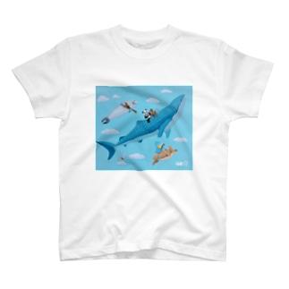 ハシビロコウのウクレレの旅B T-shirts