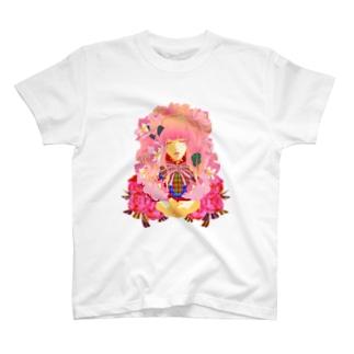 少女アリス-(白) T-shirts