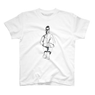 sit down boy Tシャツ