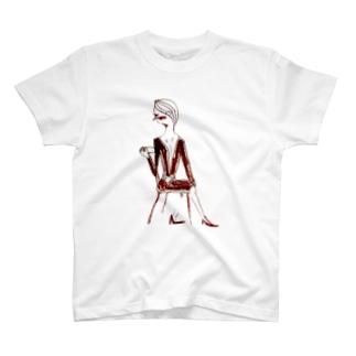 sit down woman. T-shirts