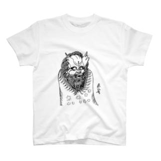 JUNSEN(純仙)唐獅子 平成の夜風を浴びて 単色 T-shirts