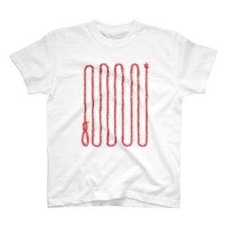くびつりなわ Tシャツ