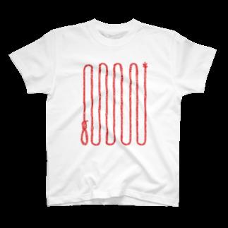 MOGUMO SHOPのくびつりなわ T-shirts