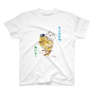 こっちだよ。 T-shirts