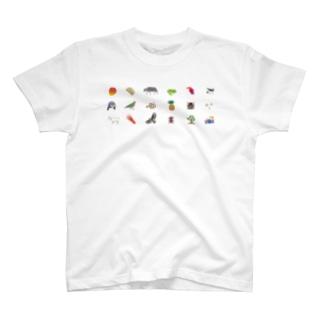 しまのなかま 文字なし Tシャツ