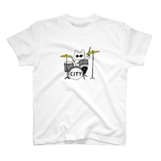 ドラムシティニャンコ T-shirts