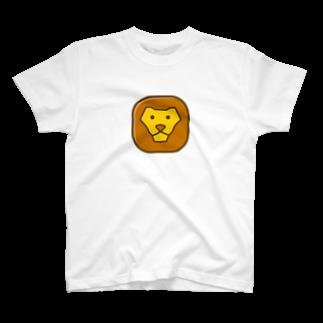 willnetのSavanna lion face Tシャツ