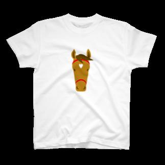 mayukiの馬(栗毛) T-shirts