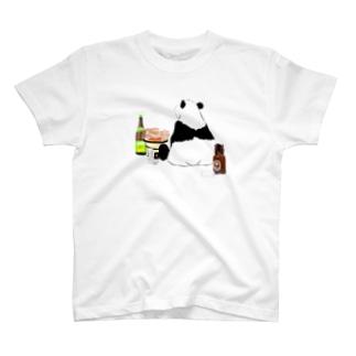 晩酌パンダ🐼 T-shirts