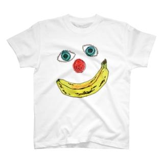 BANANA PIERROT(白や淡い色をご指定ください) T-shirts