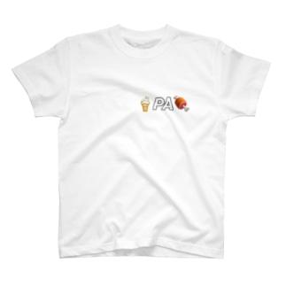 クリーム PA 肉 T-shirts
