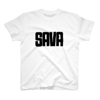 SAVA(ブラック字) T-shirts
