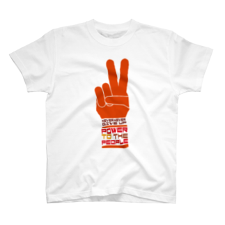 plusworksのPOWER TO THE PEOPLE Tシャツ