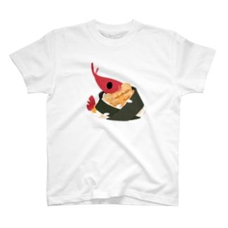 エビ天むす食べたい! Tシャツ