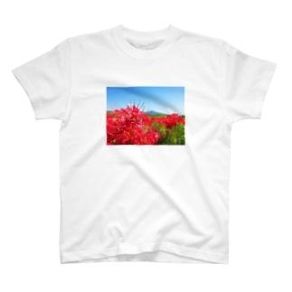田舎と彼岸花 T-shirts