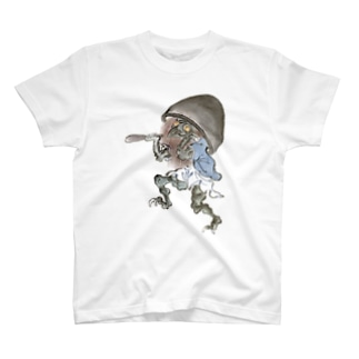 和もの雑貨 玉兎の百鬼夜行絵巻 磬子の付喪神【絵巻物・妖怪・かわいい】 T-shirts
