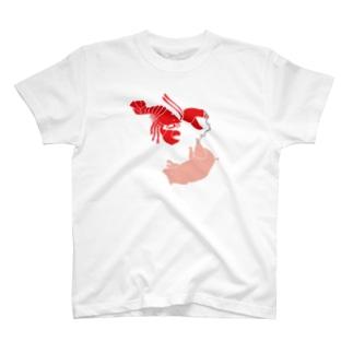ロブスター&ブタでロブストン T-shirts