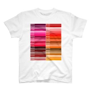 カラーパレット赤 T-shirts